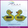 duck shaped plastic stress mood card