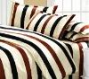 4pcs Striped cotton bed set