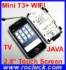 Mini T3+ China WIFI Cell Phone with TV