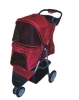 red 3 wheels pet strollers/trolley