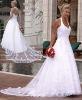 V-neck Wedding Dresses,Wedding Gowns,bridal dress WD718
