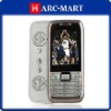 Unlocked GSM Mobile N75 Dual Card Quad Band Side Slide Cell Phone Silver #5069