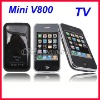 New GSM Mini Phone Tri Band Mini V800 TV Mobile Phone With 2GB TF Card Dual SIM Dual Standby