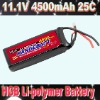 Rechargeable Battery pack(Lithium battery 11.1V 4500mAh 25C, RC battery)
