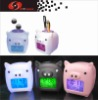color changing clock,digital alarm clock,lcd clock