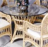 rattan coffee table and chair YW-010