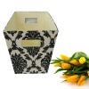 Fabric Storage Box with Cut-out Handles