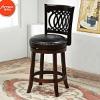 Wooden swivel bar stools