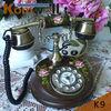 Wood Phone, Round phone, classic phone