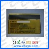 2012 hot selling metal card with magnetic stripe popular in different business