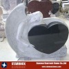 Granite angel heart tombstone
