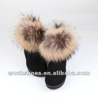 The latest comfortable warm geniune leather snow boots in 2012