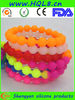 new design about silicone beaded bracelets with charm