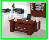 L shape italian mode mahogany wood executive office table(12ET03)