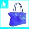 2012 zipper poly handbag gift promotional bag lady shoulder bag trendy tote travel bag(BL51386FB)