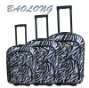 3 pcs Korean Stylish Trolley Leopard Cabin Luggage