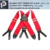 X shape leather Suspenders for men