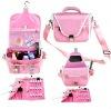 professional bride cosmetic bag make up wash bag in pink