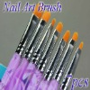 Professional 7 Pcs UV Gel Brush Nail Art Painting Draw Brush Set