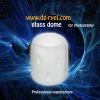 Frosted studio glass dome for photography flash light