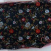 silk satin brocade fabric with flower design for garment