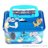 Handle Tin Cartoon Kids Coin Bank with Lock