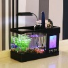 Aquarium, Real fish tank, alarm clock (Black) with UL Adaptor
