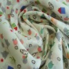 100% polyester small house printed Chiffon fabric