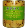 Fresh canned mushroom P&S in tin
