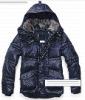 2011 hotsale man down hooded jackets, rabbit long sleeve down jacket for males male hooded down jackets with rabbit fur