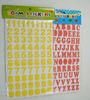 color ful one Sheet eva foam sticker for kids 3d letter sticker