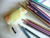 High-quality Stripe Colour Pencil for kids/stationery