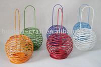 mini globe wire tea light holder