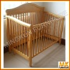 wooden baby cot bed