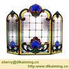 Art Glass Fireplace Screen