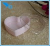 Plastic Jewelry Box, heart shape, small size