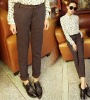 zc10036 New Models Ladies Loose Polka Dot Casual&office Pants