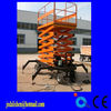 Four Tires Scissor Lift Table