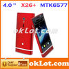 The New Phone!!! X26+ Android 4.0 MTK6577 3G GPS 4.0 Inch Dual Core Smart Phone
