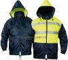 Reversible reflective work saefety men's jacket (JK-5100)m