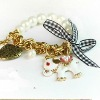 imitation pearl lovely small white elephant bracelets 2012