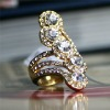 fashion ring, crystal ring, gold ring