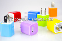 Factory price charger For iPhone 5 USB adapter with USB cable