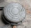 round 300 ductile iron manhole cover