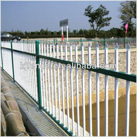 Powder coated metal picket fence