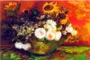 Abstract canvas flower oil painting