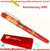 Lady pen set gift box paper cardboard kraft paper red
