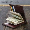 Promotional Leather money clip wallet/leather wallet with clip