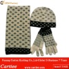Fashion Ladies Jacquard Knit Set Scarf Hat Glove