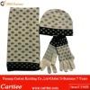 Fashion Ladies Jacquard Knit Set Scarf Hat Glove